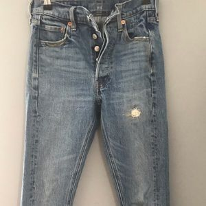 Altered Levi's size 24 jeans.